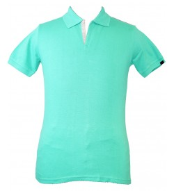 Spirit Mens Casual Plain Collar T-Shirt (L.Green) - 1114