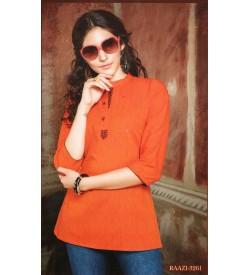 Valas Raazi Top For Women ( Papaya ) - 3261