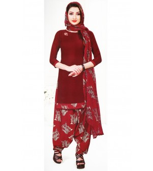 Ocean Spray Wi-Fi Plan Exotically Kalamkari Synthetic Unstitched Dress Material