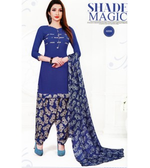 Ocean Spray Wi-Fi Shade Magic Kalamkari Synthetic Unstitched Dress Material