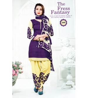 Ocean Spray Kiaraa The Fress Fantasy Synthetic Unstitched Dress Material