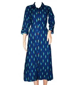 Fancy Design Muticolour Design Full Sleeve Long Kurti For Women's And Girls