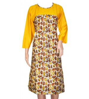 Maatra Muticolour Design Full Sleeve Kurti For Women's And Girls