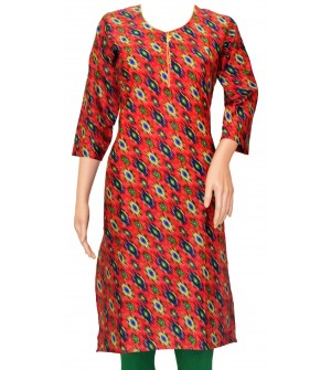 Samudhraa New Design Printed Kurtis For Women's (Multi Colour)