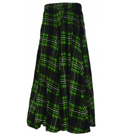 I Heart Decent Girl Cotton Green,Black Coloured Printed Up And Down Skirt For Women