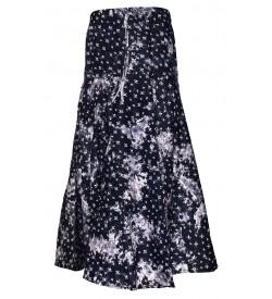 I Heart Decent Girl Cotton Jeans Blue Printed Skirt For Women