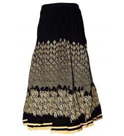 I Heart Decent Girl Cotton Black Printed Skirt For Women