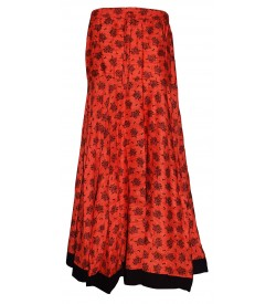 I Heart Decent Girl Cotton Coloured Printed Up And Down Skirt For Women