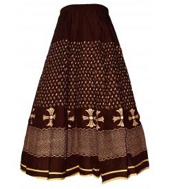I Heart Decent Girl Cotton Brown Printed Skirt For Women