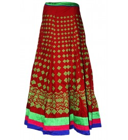 I Heart Decent Girl Cotton Maroon Coloured Printed Skirt For Women