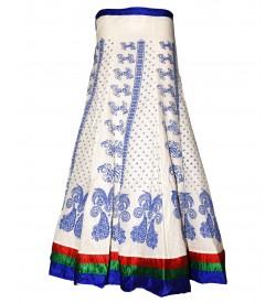 I Heart Decent Girl Cotton White Coloured Printed Skirt For Women
