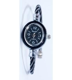 PengPa Black-Tone Bangle Analog Watch For Women's - 2143