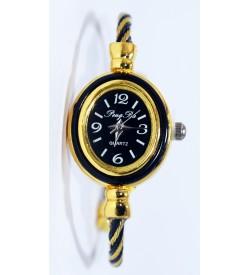 PengPa Gold-Tone Bangle Analog Watch For Women's - 2147