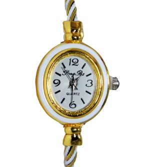 PengPa Gold-Tone Bangle Analog Watch For Women's - 2149