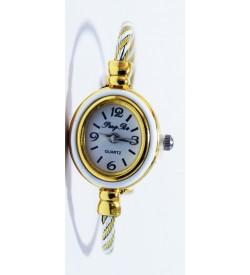 PengPa Gold-Tone Bangle Analog Watch For Women's - 2151