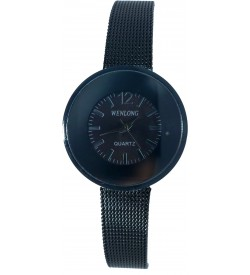 Wenlong Black Chain Quartz Watch For Women