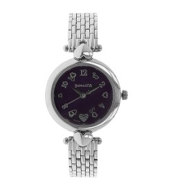 Sonata Analog Purple Dial Women's Watch - 8143SM01