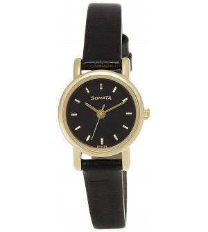 Sonata Analog Black Dial Women's Watch -NJ8976YL03W