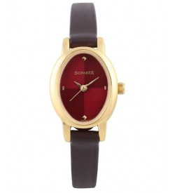 Sonata Analog Red Dial Women's Watch -NK8100YL03