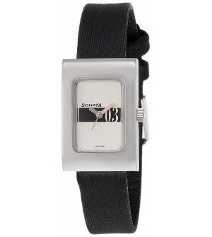 Sonata Analog White Dial Women's Watch -NK8102SL04