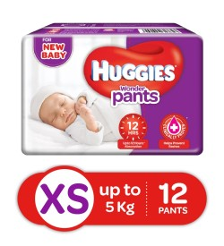 Huggies Wonder Pants Extra Small Pant Style Diapers - 12 Pieces