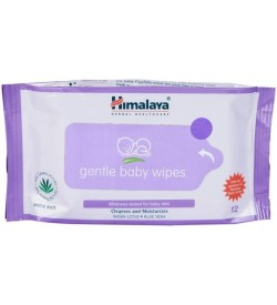 Himalaya Gentle Baby Wipes, 12 Pcs ( Pack Of 4 )