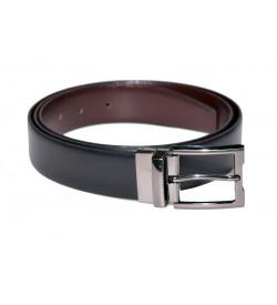 Growvid Men Formal, Casual Black, Brown Genuine Leather Reversible Belt - BE7960