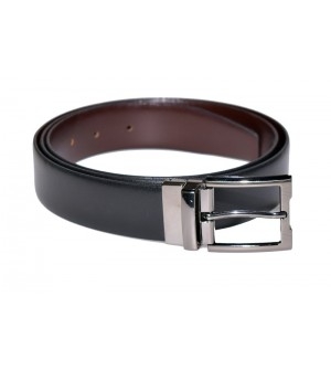 Growvid Men Formal, Casual Black, Brown Genuine Leather Reversible Belt - BE7960