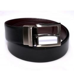 Growvid Men Formal, Casual Black, Brown Genuine Leather Reversible Belt - BE8008
