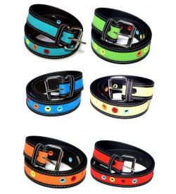 Best Combo Pack Of 6 Multi Colour Belt For Kids - BE8017