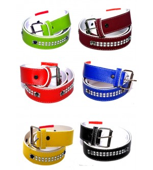 Best Combo Pack Of 6 Multi Colour Belt For Kids - BE8032