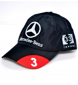 Mercedes - Benz Black Polyester Adjustable Cap - 8154