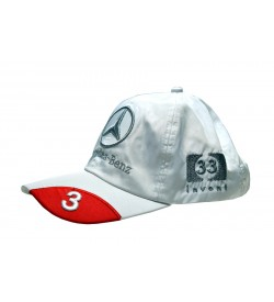 Mercedes - Benz White Polyester Adjustable Cap - 8160