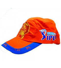 Gujarat Lions Cap IPL T-20 Orange Cotton Cap - 8164 - Pack Of 2
