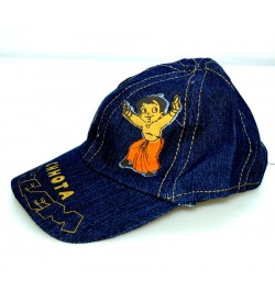 Chhota Bheem Jeans Blue Cap For Kids - 8177 - Pack Of 6