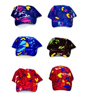 Love Multi Colour Cap For Kids - 8194 - Pack Of 6
