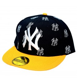 NY Sports Cap For Boys, Men's, Girls (Black & Orange) - 8210
