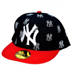 NY Sports  Cap For Boys, Men's, Girls (Black & Red) - 8213