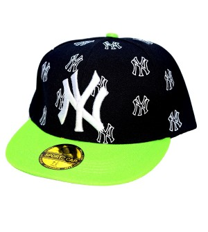 NY  Sports Cap For Boys, Men's, Girls (Black & Green) - 8216
