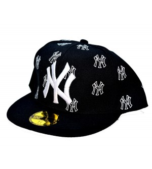 NY Sports Cap For Boys, Men's, Girls (Black & White) - 8223
