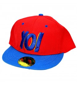 Yo! Red Sports Cotton Cap - 8226