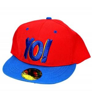 Yo! Red Sports Cotton Cap - 8226