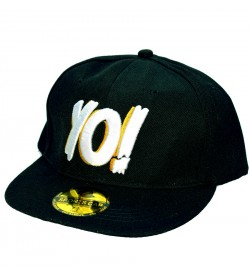 Yo! Black Sports Cotton Cap - 8230