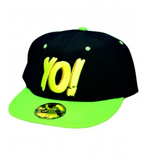 Yo! Black Sports Cotton Cap - 8233
