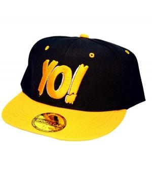 Yo! Black Sports Cotton Cap - 8236
