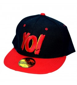 Yo! Black Sports Cotton Cap - 8242