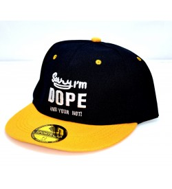 Sorry I'm DOPE And Your Not ! Sports Cap (Black & Orange) - 8249