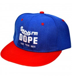 Sorry I'm DOPE And Your Not ! Sports Cap (Blue & Red) - 8253