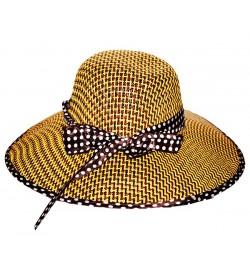 Long Brim Beige Beach and Sun Hat for Women & Girls Cap - CA7709