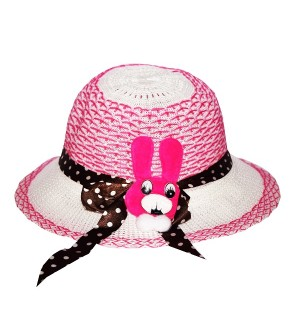 Child Kids Girls Baby Lace Node Brim Summer Cap 2 Different Colour pack Of 2 - CA7721